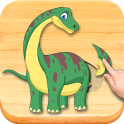 Funny Dinosaurs Kids Puzzles, full game.