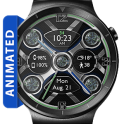 Electro Plasma HD Watch Face Widget Live Wallpaper