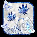 Blue Diamond Butterfly Launcher Theme HD Wallpaper