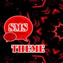 Red Black GO SMS Theme