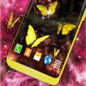 Gold Live Butterflies Gold Butterfly Wallpaper