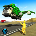 City Garbage Flying Truck- Flying Games
