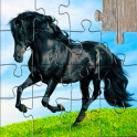 Horse Jigsaw Puzzles Game - For Kids & Adults