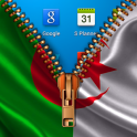 Algeria Flag Zipper LockScreen