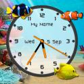 Aquarium Clock Live Wallpaper