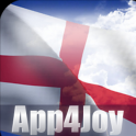 3D England Flag Live Wallpaper