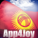 3D Kyrgyzstan Flag Live Wallpaper