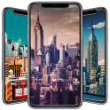 Pixel Art City Wallpaper