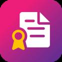 aplicación a hacer certificado