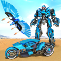 Flying Police Eagle Transform Bike Robot Shooting