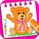 Little Teddy Bear Coloring Book Game