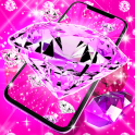 Pink diamonds live wallpaper