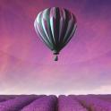 Heißluftballon 3D Hintergrund