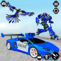 Police Eagle Robot Transformation:Free Robot Games
