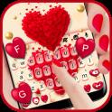 Red Valentine Hearts Tema de teclado