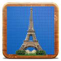 Eiffel Tower in bricks