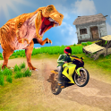 Bike Racing Dino Adventure 3D: Dino Survival Games