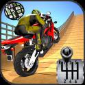 Impossible Stunts Bike Racing Games 2018: Sky Road