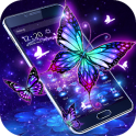 3D Purple Butterfly Theme