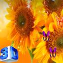 3D Sunflower Wallpaper