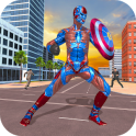 Superhero Captain Robot Games:Black Hole Rope Hero