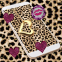 Pink Gold leopard Print Live Wallpaper