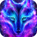 Night Sky Wolf Live Wallpaper