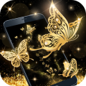 Gold Butterfly Live Wallpaper