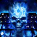 Flaming Skull 3d Tema de teclado