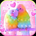 Love Parrots Fondo 3D Wallpapers de teclado