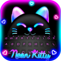 Black Neon Kitty Tema de teclado