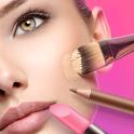 Maquillaje facial y cámara editor de fotos