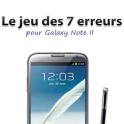 Jeu 7 erreurs Galaxy Note II