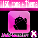 Pink BlkTux icon pack