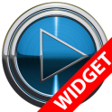Poweramp widget BLUE PLATIN