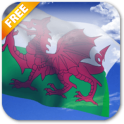 3D Welsh Flag Live Wallpaper
