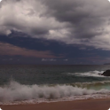 Cloudy Ocean Waves Wallpaper 2