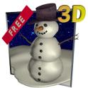 Schneefall 3D Live-Hintergrund