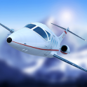 Airplane Fly the Swiss Alps