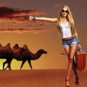사막 사진 프레임