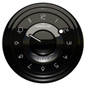 Widget 黒時計アナログ