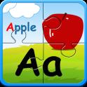 Alphabet jigsaw puzzle & flashcards kids game