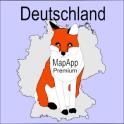 Topographie Deutschland MapApp