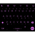 Keyboard Theme Flat Black Pink