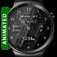 Black Glass HD Watch Face Widget & Live Wallpaper