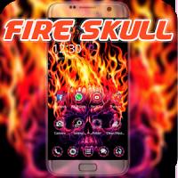 Fire Skull Theme Scary Horror