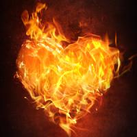 burning heart live wallpaper