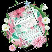 Springtime Flowers Keyboard Theme