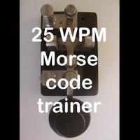 25WPM Amateur ham radio Koch CW Morse code trainer