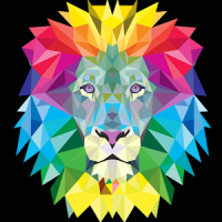 neon lion wallpaper